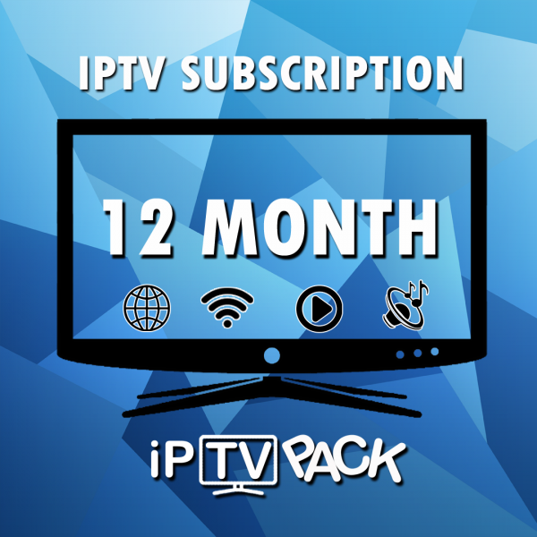 IPTV Smart TV Subscription - 12 MONTHS