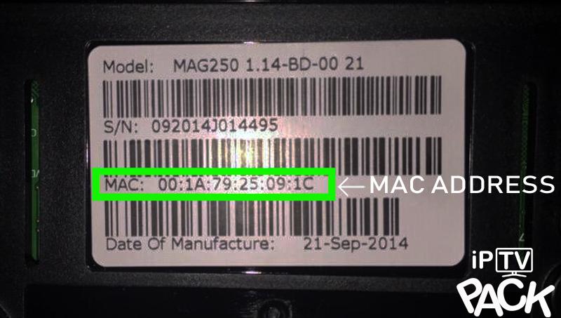 IPTV Mag Box Subscription MAC Address